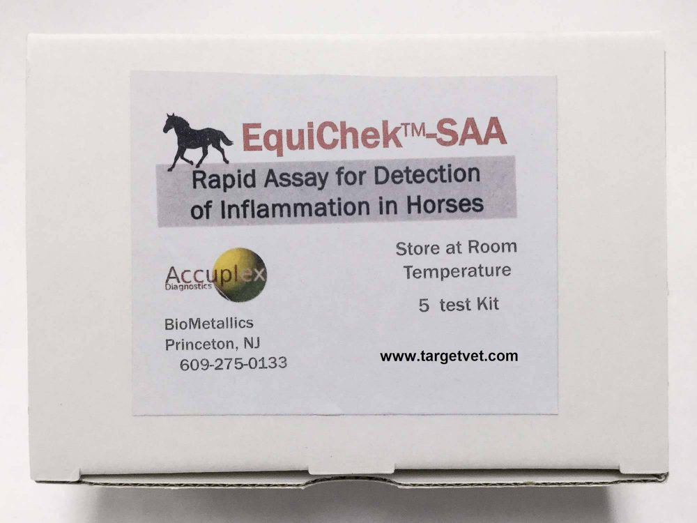 Equi-chek-SAA Kit Visual OR Quantitative Results (with Cube Reader)