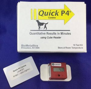 Quick P4 Canine Test Quantitative Readings